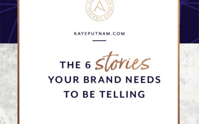 Consumers care more and more about the products they buy, so telling your brand's stories is essential for connecting on an emotional level with your ideal clients. Here are the 6 stories your brand needs to be telling.