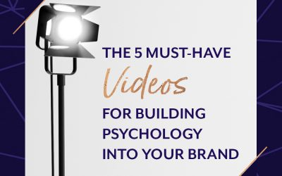Video is a shortcut to establishing the all-important know, like, trust factors. It's a hotwire to the emotional triggers that cause your ideal clients to flock to you - and to buy. Here are five types of videos you can create for your psychology-driven brand.