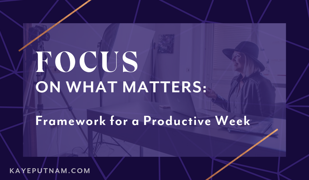 FOCUS on What Matters: My Framework for a Productive Week