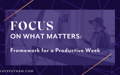 How I Stay Focused on What Matters as an Entrepreneur. You have 34,877 things to do this week. Ugh. Which to tackle first? Try this framework! I use it to stay focused on the right things as an entrepreneur.