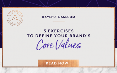 5 Exercises to Define Your Brand's Core Values. In this article, I'm sharing the five exercises that I facilitate with my clients and students... to articulate the unique points of view that will define their singular brands.