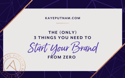 The only 3 things you need - when starting a brand from zero. Starting a brand? Or established, but feeling the need to get back to basics? Here are the (only) 3 things an entrepreneur truly needs to be in business.