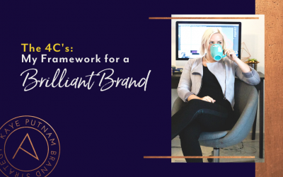 "The 4 C's of a Brilliant Brand. Read on, Entrepreneur! I'm revealing the proprietary ""4C framework"" I use to facilitate the oh-so-critical work of building a strong brand foundation."
