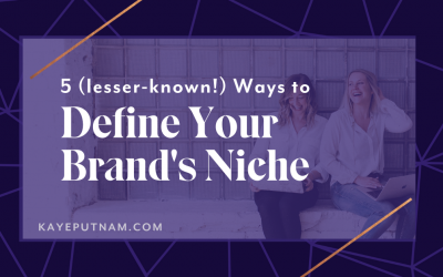 "5 Lesser-Known Ways to Define Your Niche for Your Brand. There's more than one way to define your brand's niche! Using one of these ""lesser known"" techniques can help you get specific - without feeling fenced in."