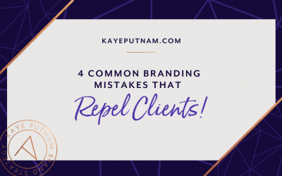 4 Common Branding Mistakes. Avoid these four common, client-repelling branding mistakes - at all costs! When entrepreneurs make them, ideal clients run the other way.