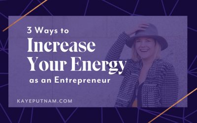 Increase Energy as an Entrepreneur